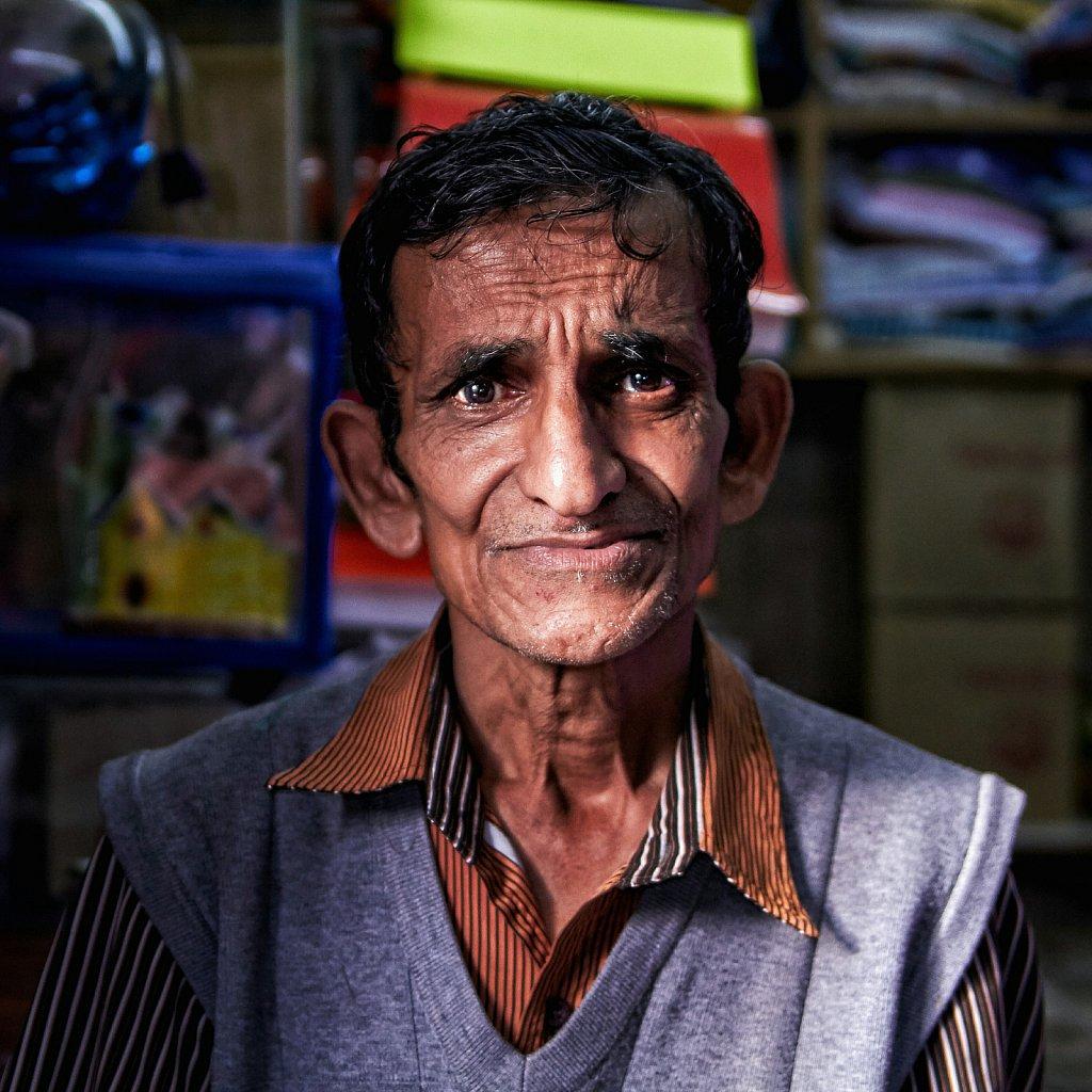 Merchant With Fishing Equipment, India